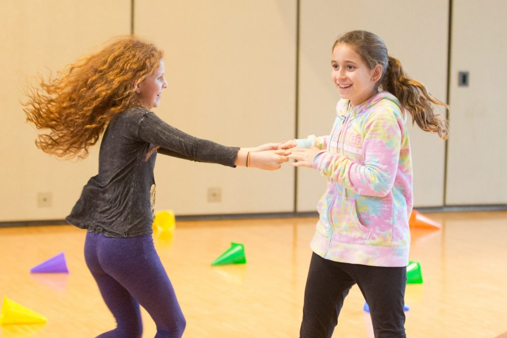 middle school events for girls to connect face-to-face with others and play active games,