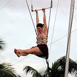 Dawn on the trapeze