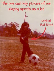 The only photo of Dawn playing sports as a kid